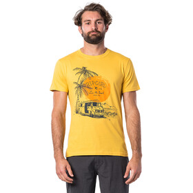 Rip Curl Tuc Tuc T-shirt Heren, washed yellow